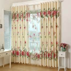 Blue Yellow Shower Curtain by Beautiful And Elegant Living Room Curtains With Flowers