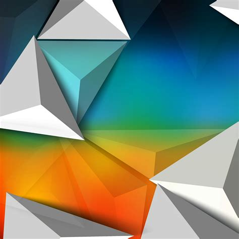 Abstract White Design Wallpaper by A 3d Pattern In White Orange And Blue Abstract Qhd