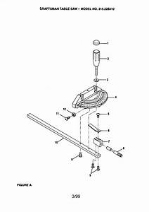 Craftsman 315228310 Table Saw Parts