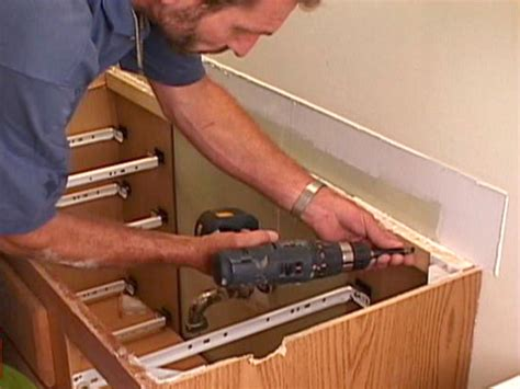 diy kitchen sink installation how to replace a bathroom vanity how tos diy 6861