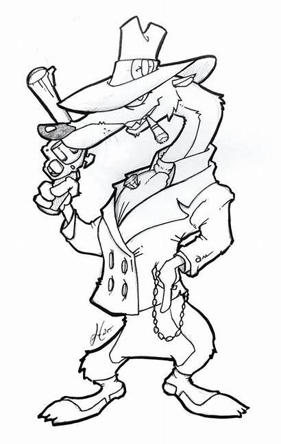 Rabbit Roger Weasel Coloring Pages Framed Patrol