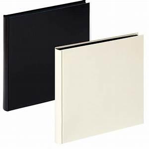 Walther Buchalbum Charm Mit 60 Schwarzen Seiten 30x30 Cm