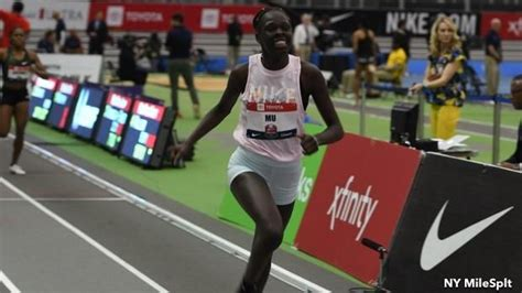 athing  captures national record    usa indoors