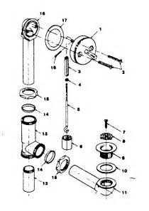 tub drain assembly diagram size