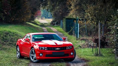 Red Chevrolet Camaro Hd Wallpaper 1080p