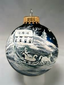 painted glass ornament sleigh