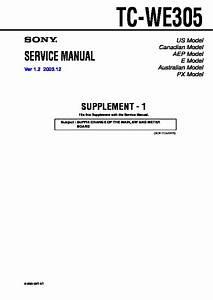 Sony Tc-we305 Service Manual