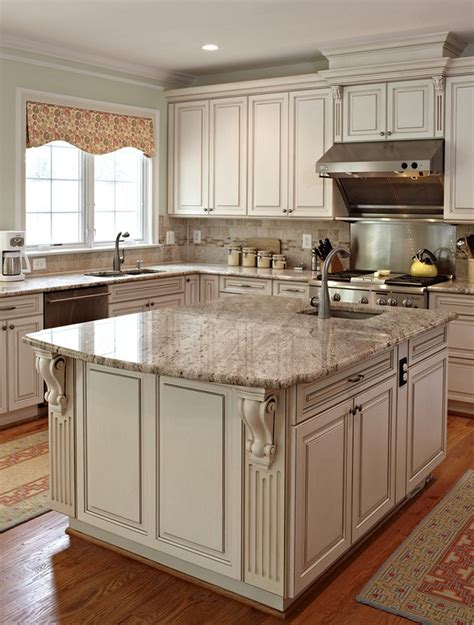 kitchens with antique white cabinets new venetian gold granite for stunning home design 8779