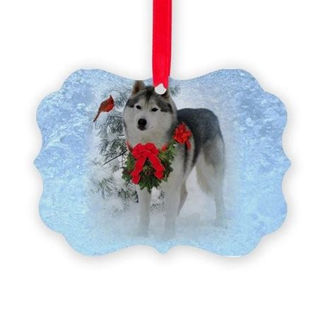 siberian husky christmas ornament by admin cp48336469