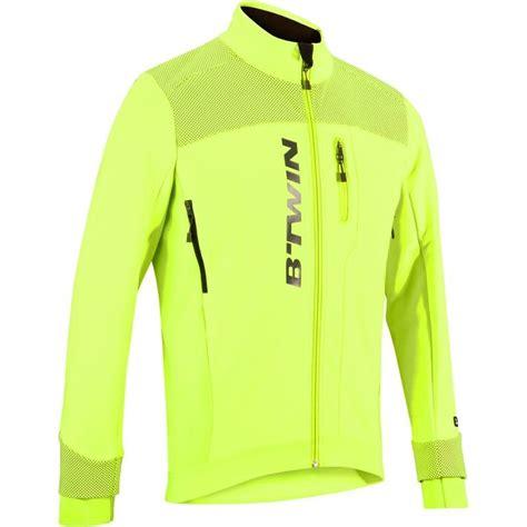 yellow cycling jacket 900 hi vis warm cycling jacket yellow decathlon