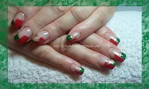 Deco Ongle Noel : deco ongle gel noel pose de no l magnifique rouge d grad ~ Melissatoandfro.com Idées de Décoration