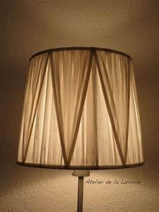 Abat Jour Original : abat jour cousu soie sauvage nacr e pliss vertical ~ Melissatoandfro.com Idées de Décoration