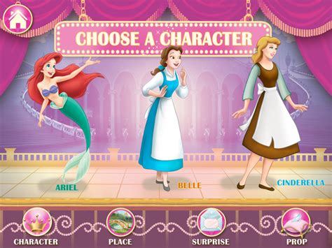 disney princess story theater iphoneipad app pre