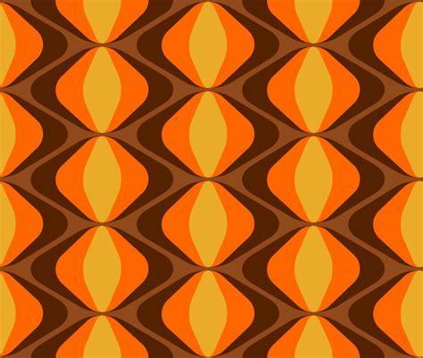 70er Jahre Tapete by Retro Stoff Fummelhummel Auf Stoffn De Bunt Orange