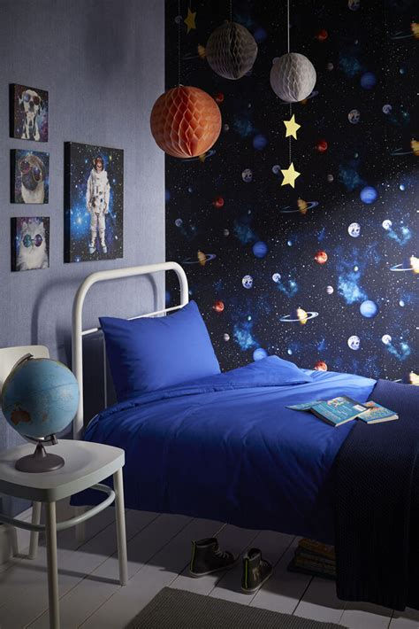 Boys Bedroom Wallpaper by Cosmos Space Themed Room Concept Boys Bedroom