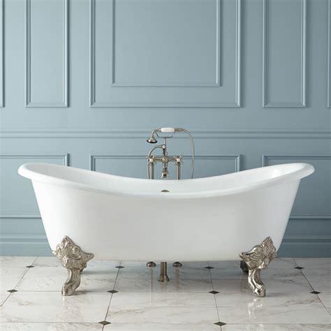 cast iron bathtub 68 quot erikson cast iron ended tub on wood cradles