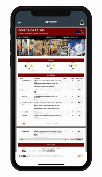 Daily Report Construction Subcontractor Reports Raken Field