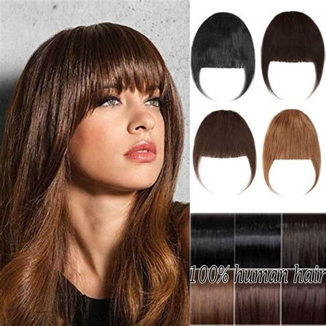 Shop Clips In Hair Bangs Fringe Hair Extensions Clip On