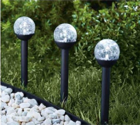 25cm globe light large white solar crackle glass for