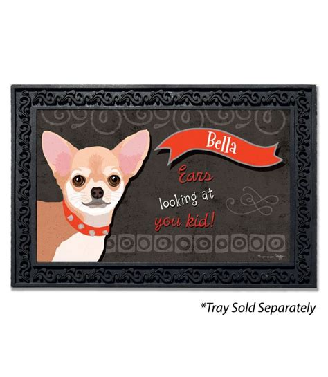 Chihuahua Doormat by Personalized Chihuahua Doormat 18 Quot X 30 Quot Custom