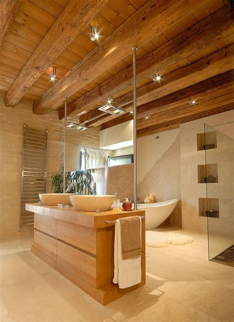 soffitto con travi illuminazione soffitto travi a vista