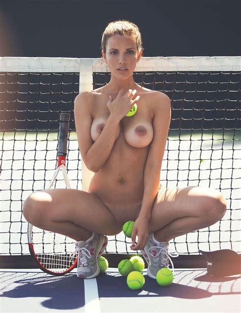 Katrina Elizabeth Tennis Court Naked Nudeshots