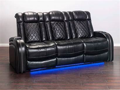 Leather Grain Theater Transformer Piece Living Quilted