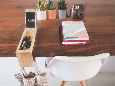 handmade wooden desk organizer   table handbag