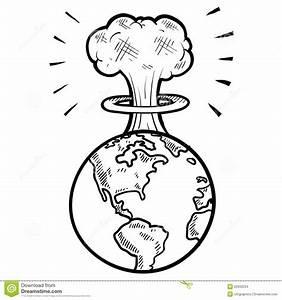 Mushroom Cloud Sketch Stock Images - Image: 22933234