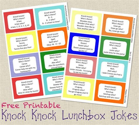 knock knock jokes lunch box notes free printable 818 | Slide1