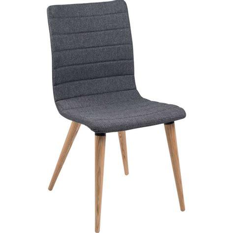 chaise en tissu chaise scandinave en tissu et bois doris 4 pieds