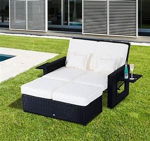Lounge Sofa Outdoor : patio rattan wicker chaise lounge furniture set sofa ottoman outdoor daybed pool ebay ~ Frokenaadalensverden.com Haus und Dekorationen