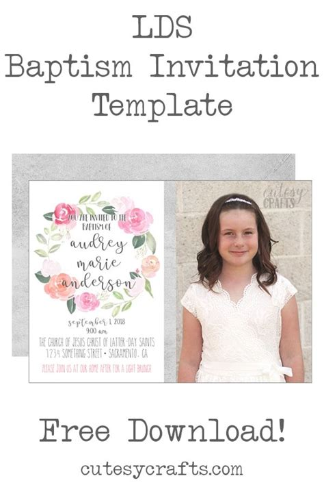 Top Free Printable Baptism Invitation Template Tristan