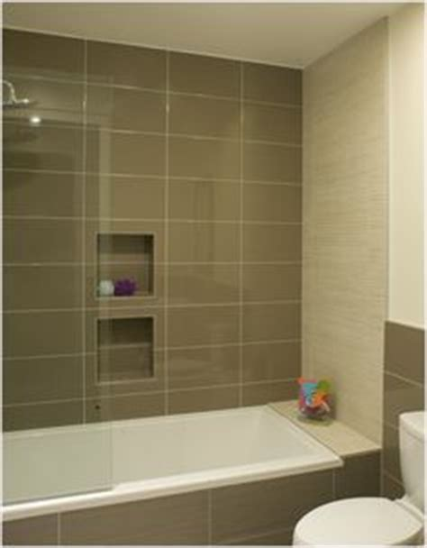 bathroom shower niche with brushed nickel profile
