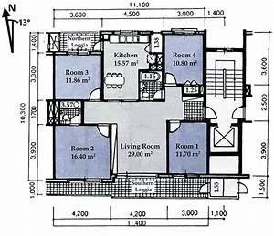 Typical Floor Plan Of An Apartment Unit And Rooms Net Floor Area  In