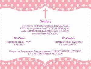 Formato Para Invitaciones De Bautizo  Invitaciones De