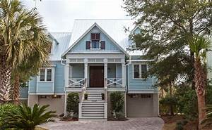 light blue beach home exterior traditional exterior With best outdoor lighting for beach house