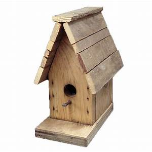 Weathered Wood Bird House rePotme