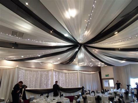 How To Hang Ceiling Drapes For A Wedding - wedding black and white ceiling draping ceiling drapes