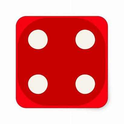 Dice Roll Die Four Square Clipart Rolling