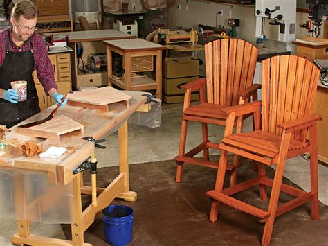 video bar height adirondack chair build woodworking