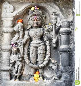 Vintage Historic Stone Art Of Indian Gods In An Ancient ...