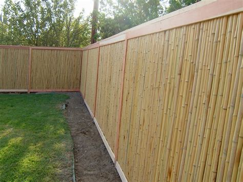 wood fence height flexible and affordable bamboo privacy fence fence ideas