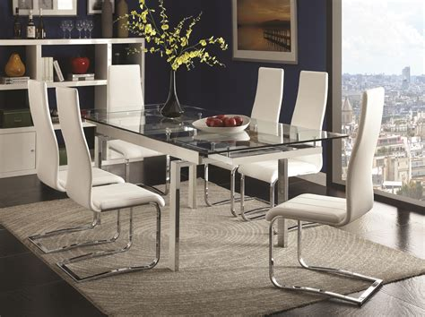 Coaster Modern Dining Contemporary Dining Room Set With
