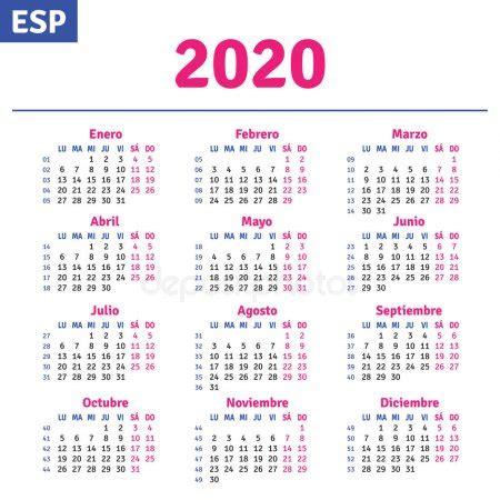 espanol calendario vector de stock rustamank