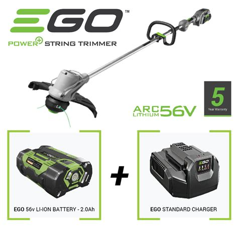 ego cordless grass trimmer   battery  charger