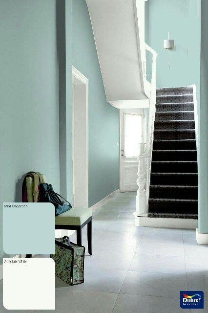 mint macaroon and white hallway ideas