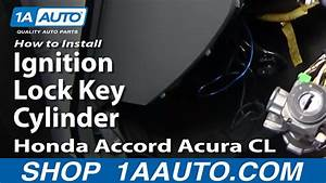 How To Install Replace Ignition Lock Key Cylinder Honda Accord Acura Cl 94-97 1aauto Com
