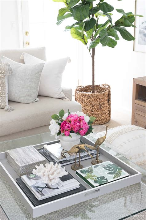 Why spend $50 on a tray when you can make one for $15 and customize it to match your décor? Coffee Table Decor: Ideas & Inspiration | Driven by Decor