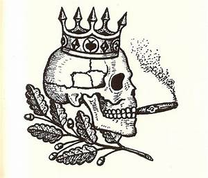 russian prison tattoo - skull and crown | Occult Tattoos ...